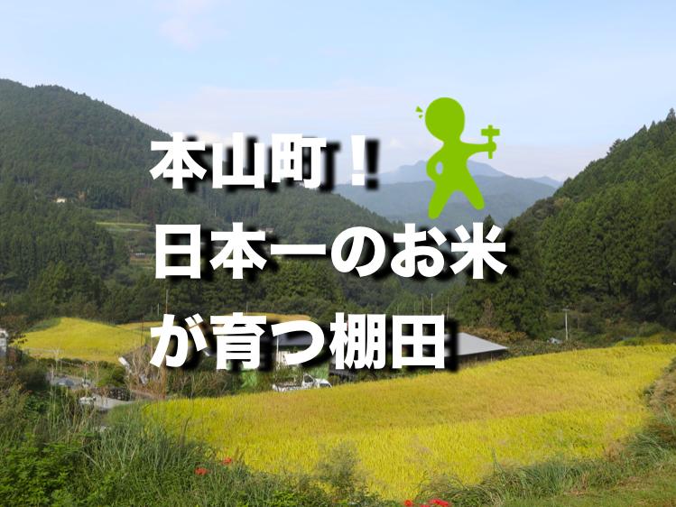日本一のお米「土佐天空の郷」が育てられている本山町の棚田へ行ってきたよ。